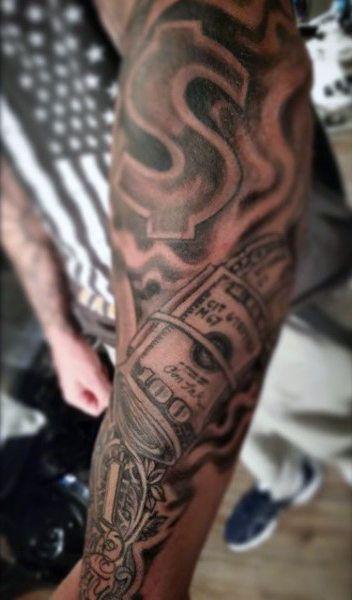Gangster Money Bag Tattoo Designs