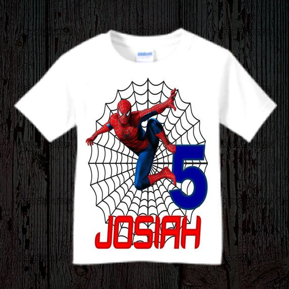 Spiderman Birthday Shirt Raglan Options Available Bday