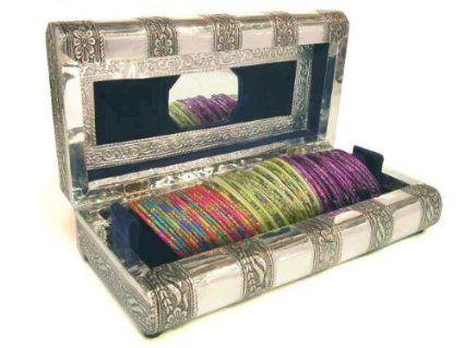 Amazoncom Beachcombers Indian Metal Jewelry Box Glass Bangle