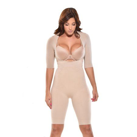 Mid-Thigh Arm control Bodysuit. Body Shaper,Arm Sh