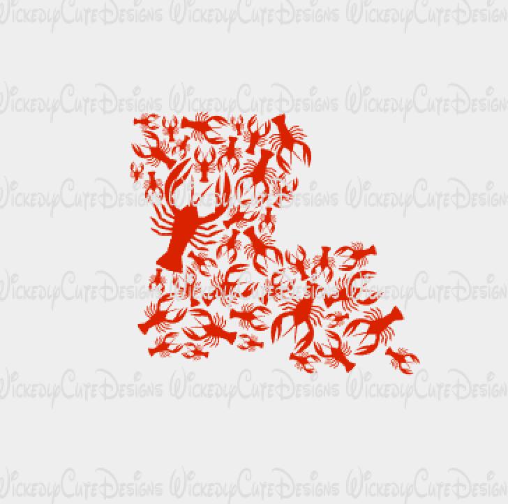 Louisiana Crawfish SVG, DXF, EPS, PNG Digital File | Cameo ...
