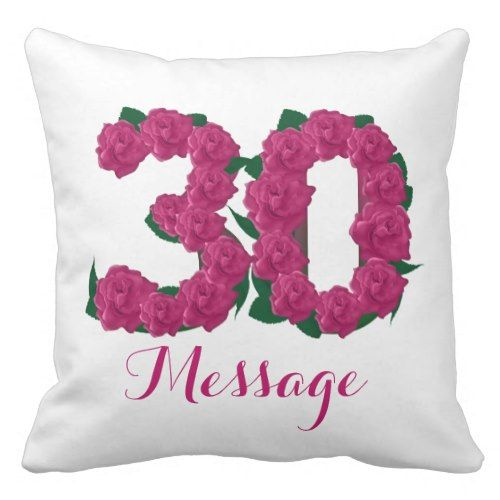 Customized 30th Birthday Outdoor Throw Pillow