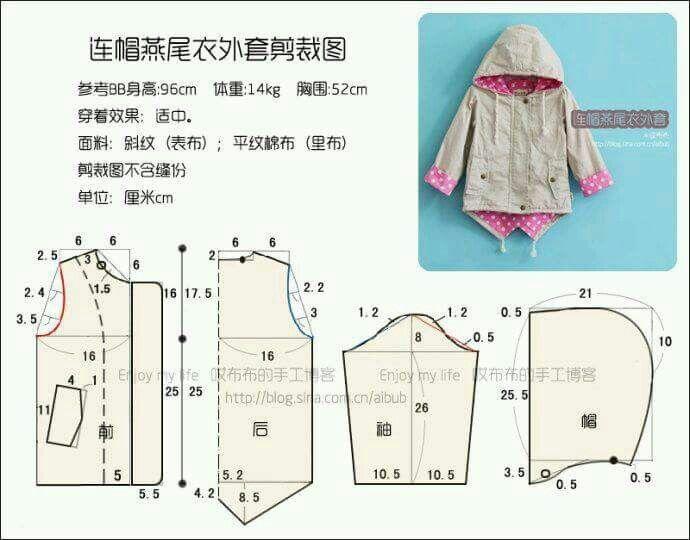 chaqueta   costura niños   Pinterest   Chaquetas, Patrones y Bebe