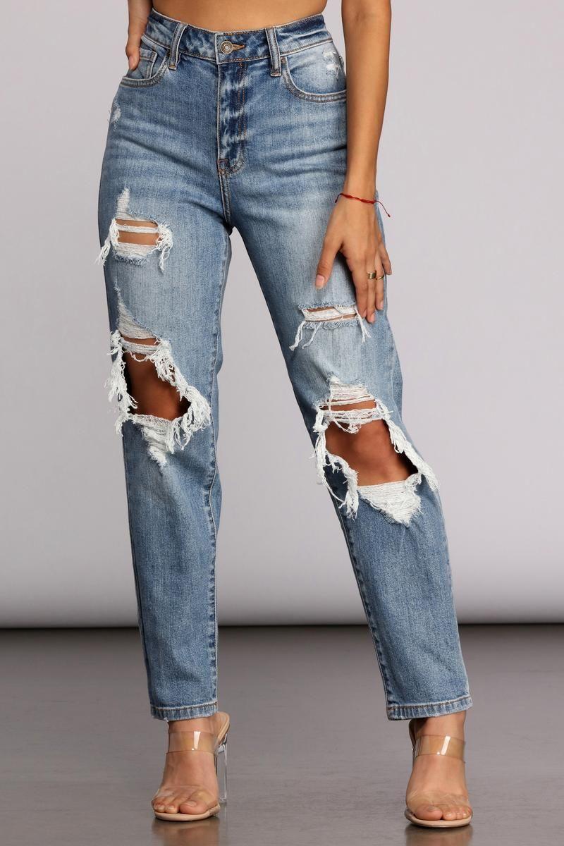 Photo of Tobi Super High Waist Mom Jeans