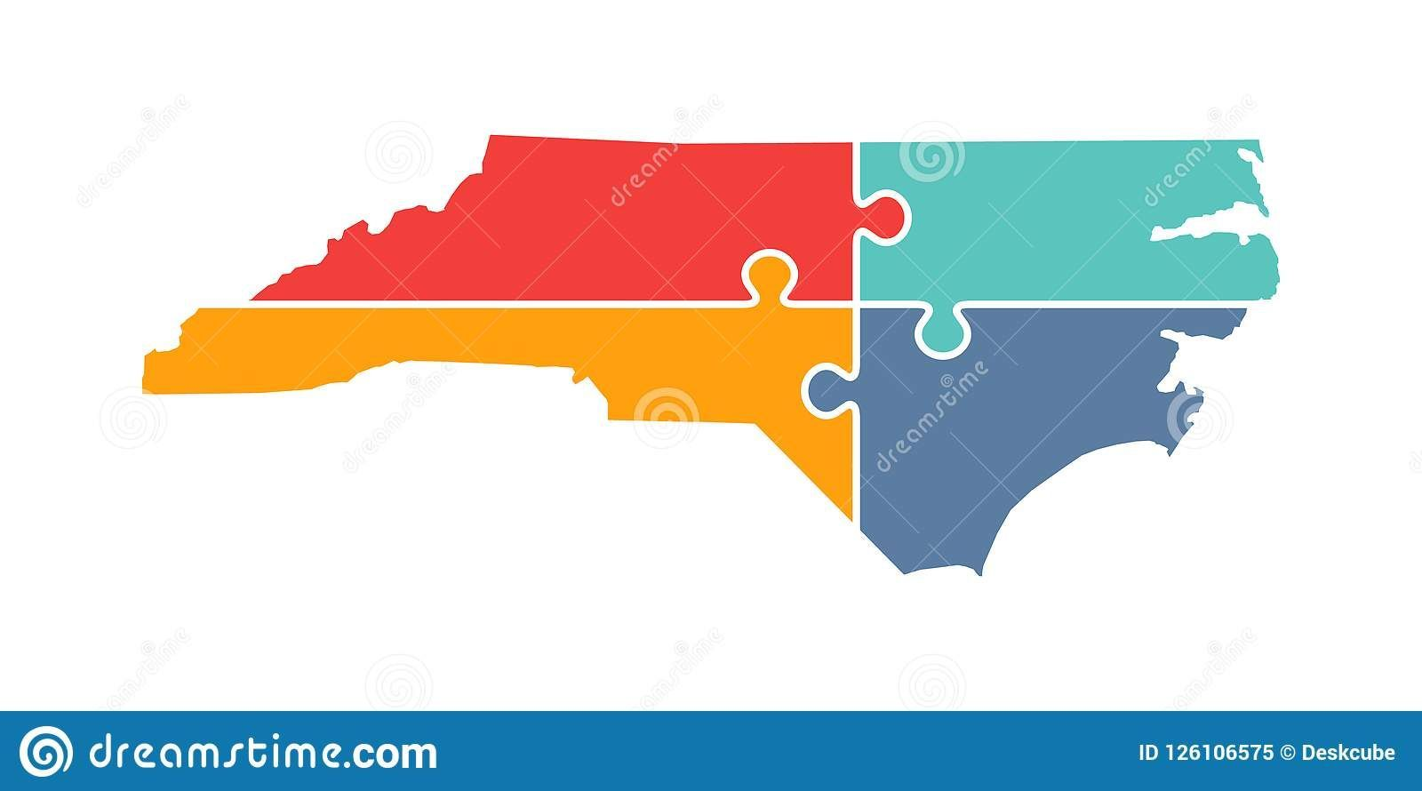 North Carolina Rebuild Logo Vector Illustration recovery