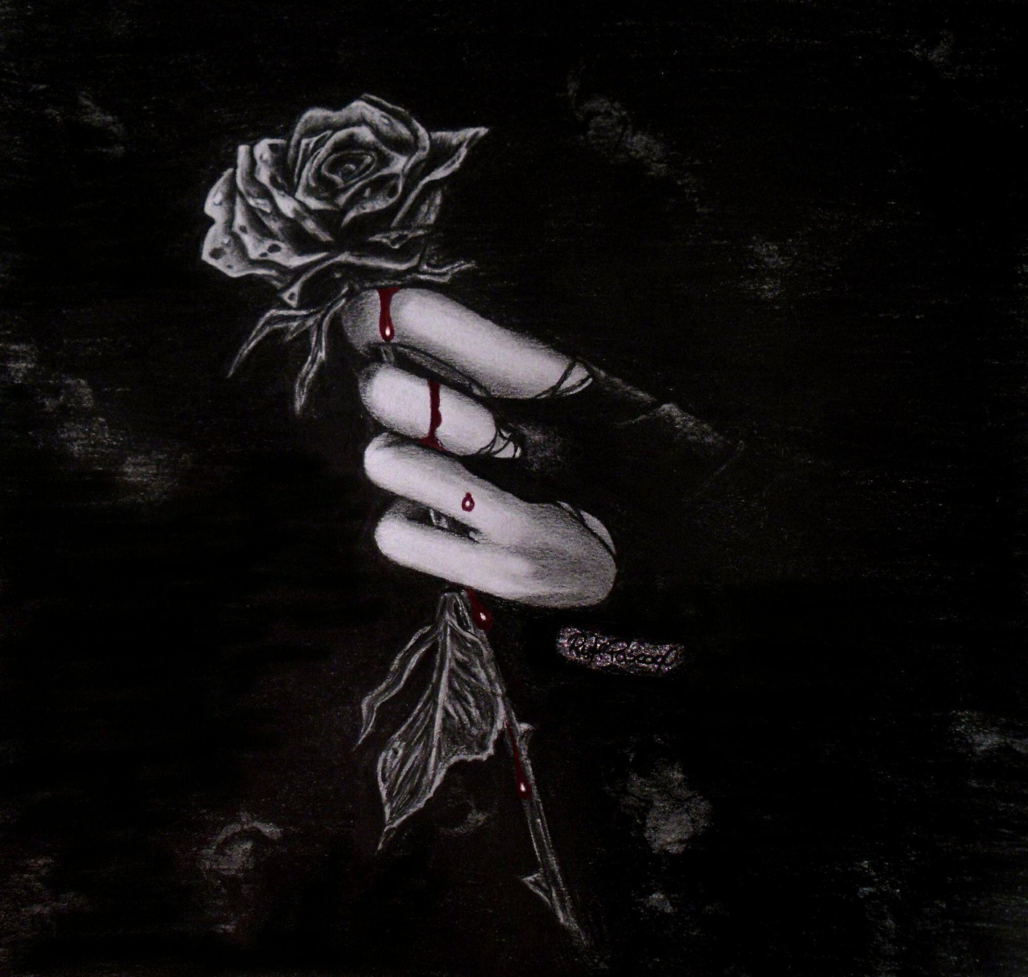 Blood Drop Black Rose Gothicmedievil Pinterest Black