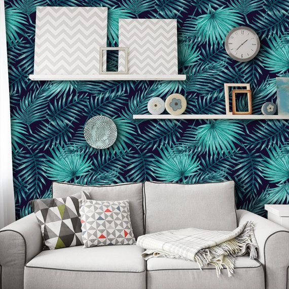 Palm Leaf Tropical Wallpaper Peel and Stick Wallpaper in