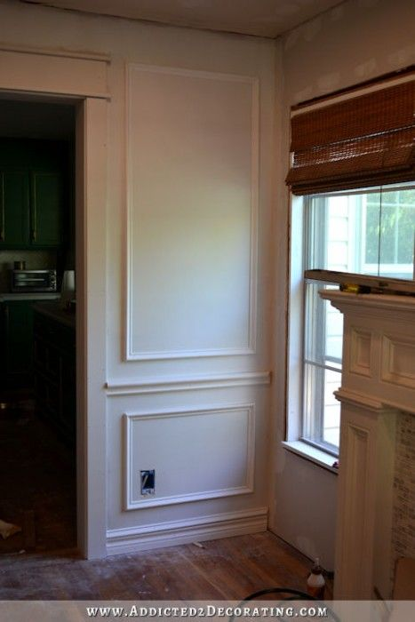 Full Wall Picture Frame Mouldingl How To Install Moulding Wainscoting Addicted2decorating
