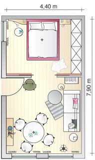 kleine r ume sinnvoll verbinden wohn und esszimmer sch ner wohnen pinteres. Black Bedroom Furniture Sets. Home Design Ideas