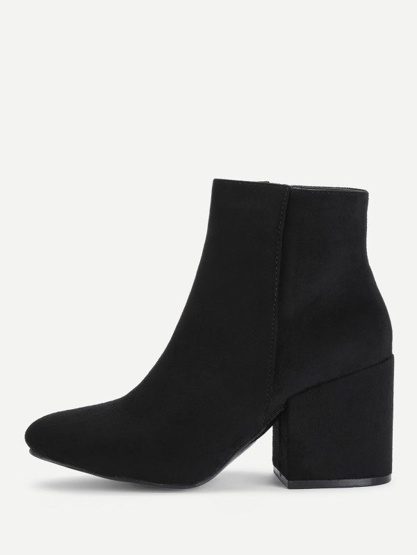 Shop Side Zipper Block Heeled Ankle Boots online. SheIn offers Side Zipper Block Heeled Ankle Boots & more to fit your fashionable needs.