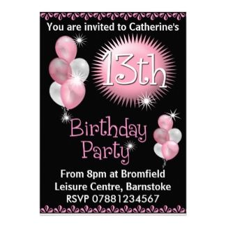 16 best 13th birthday party invitations