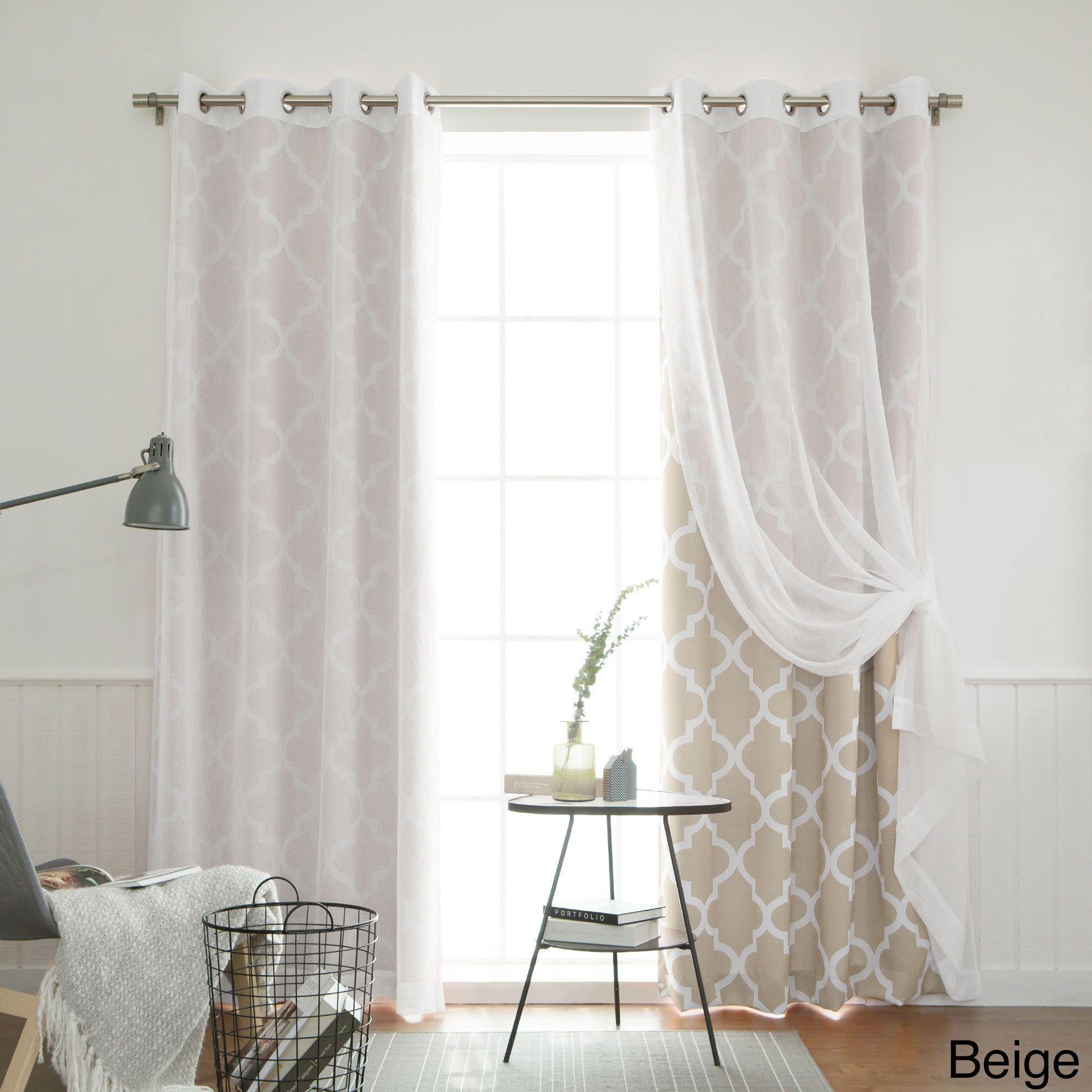 Aurora home mix u match curtains muji sheer moroccan room darkening