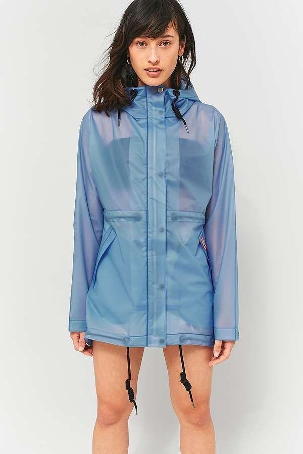 Hunter Original Pale Blue Vinyl Rain Mac Jacket Blue Vinyl Urban Outfitters Women Outfit Inspiration Women