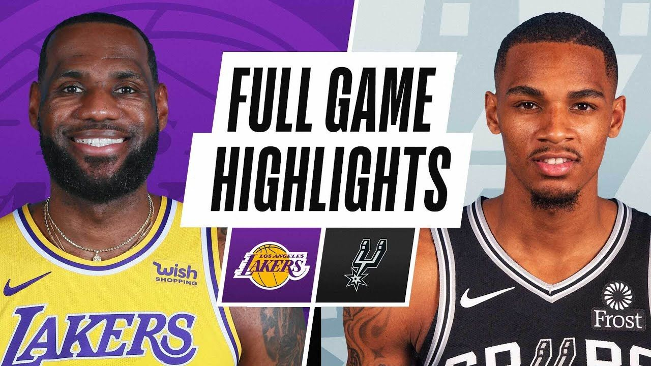 LAKERS at SPURS   FULL GAME HIGHLIGHTS   December 30, 2020   Full games,  Trail blazers, Lakers