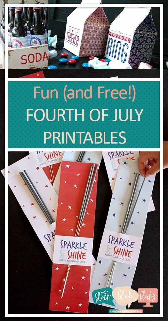 Fun (and Free!) Fourth of July Printables Printables, Free