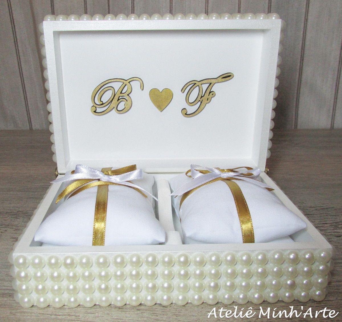 db9a9b703dc1 Caixa porta alianças para casamento. Caixinha em MDF, pintado na cor  preferida do cliente