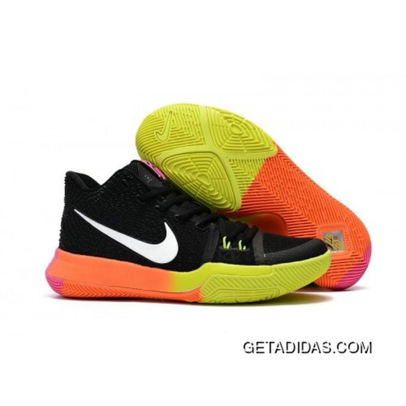 db4612aacb3 2017 Nike Kyrie 3 Colorful Black Orange Volt Basketball Shoes Cheap To Buy