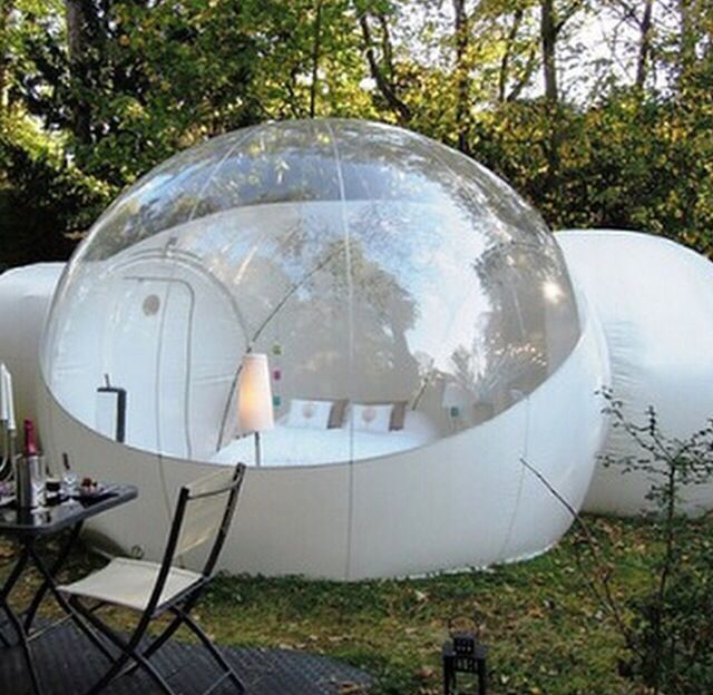 luxurious Outdoor Single Tunnel Inflatable Bubble Tent