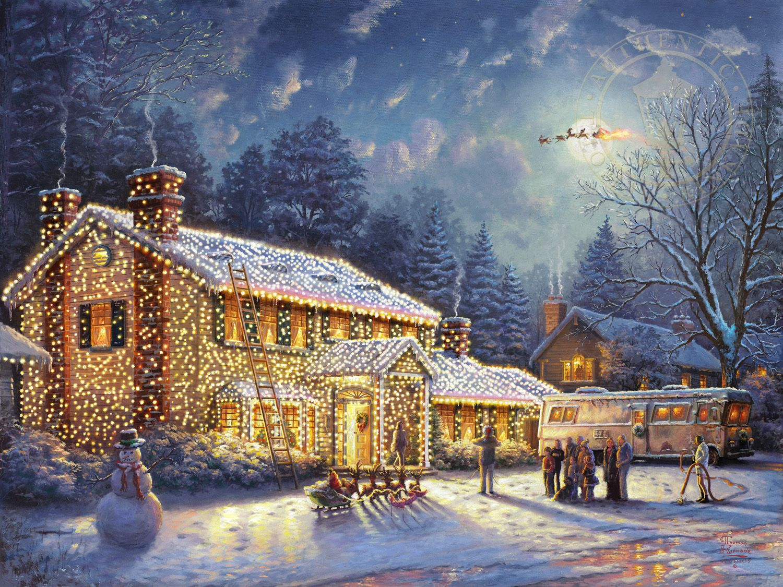 National Lampoons Christmas Vacation Thomas Kinkade Studios
