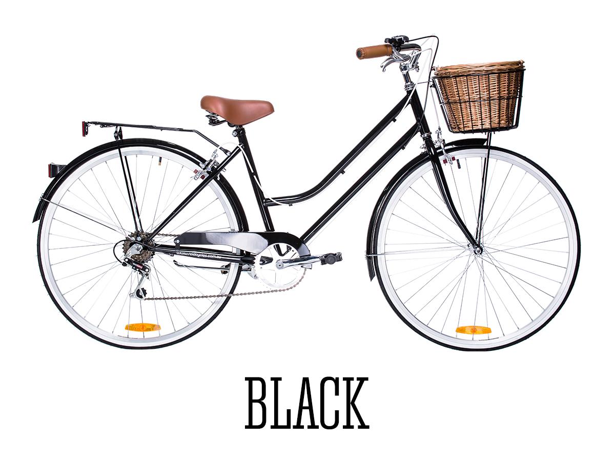 Black Vintage Style Vintage Ladies Bike Vintage Ladies