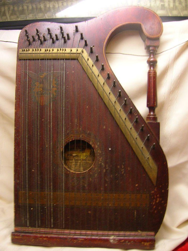 Vtg American Mandolin Guitar Harp Co. Jersey City NJ Mandolin Guitar Instrument  Music items