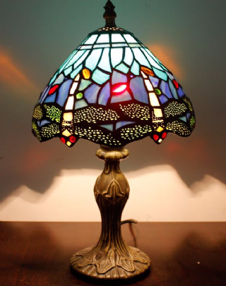31cm Tiffany Style Table Lamp Dragonfly