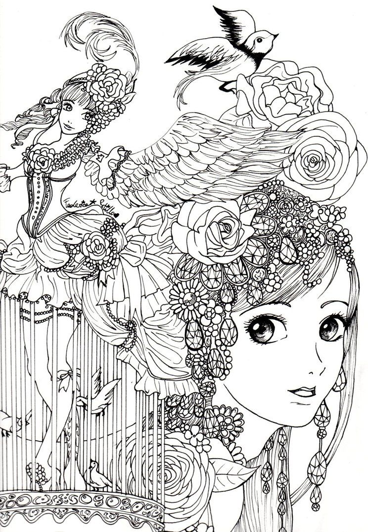 The Lineart Of My Work Www Facebook Com Photo Php Fbi Hellip Colored In Digital Conzy94 Deviantart Com Art Coloring Books Fairy Coloring Pages Coloring Pages
