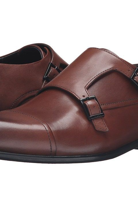BOSS Hugo Boss Dressapp Monk Buct by HUGO (Medium Brown) Men's Shoes - BOSS