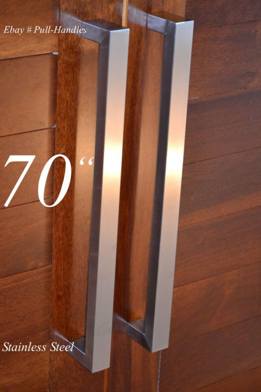 Puerta de entrada tirador empujar Plaza de Cristal Moderno entrada de acero inoxidable de larga