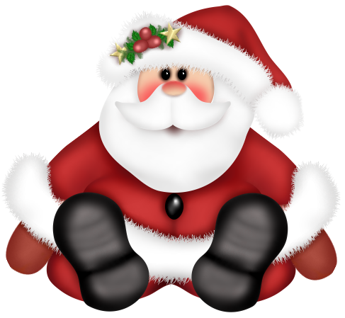 Cute Santa Claus PNG Clipart Christmas paintings