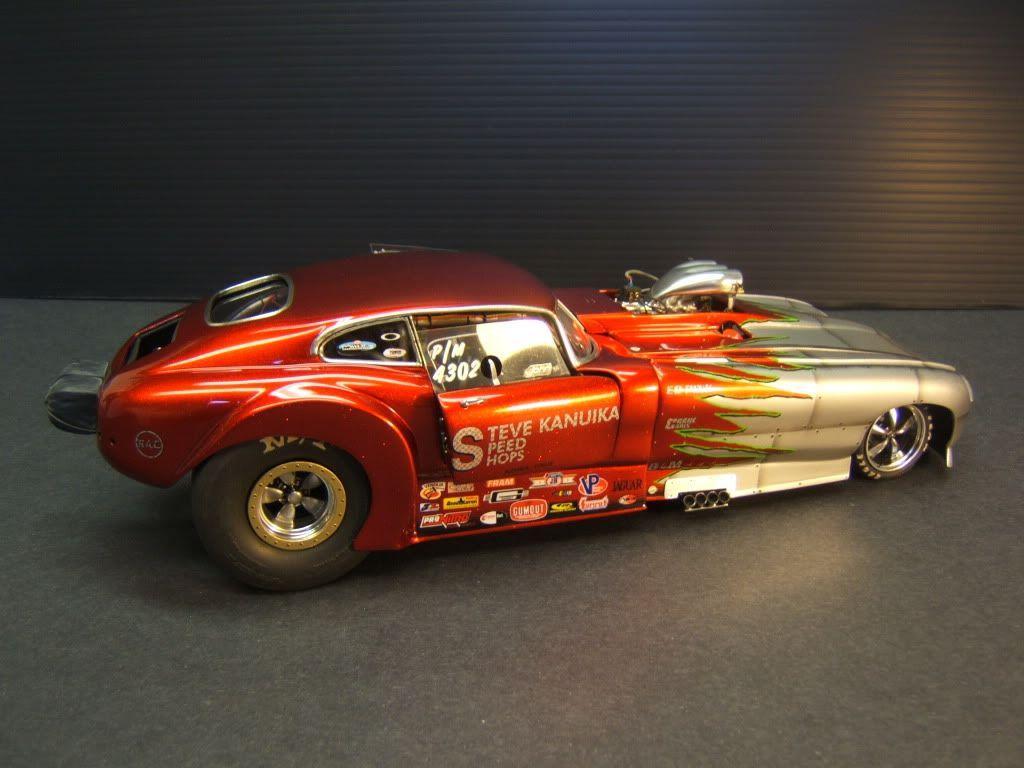 Flamin' Corvette funny car. Car & Truck Scale Models