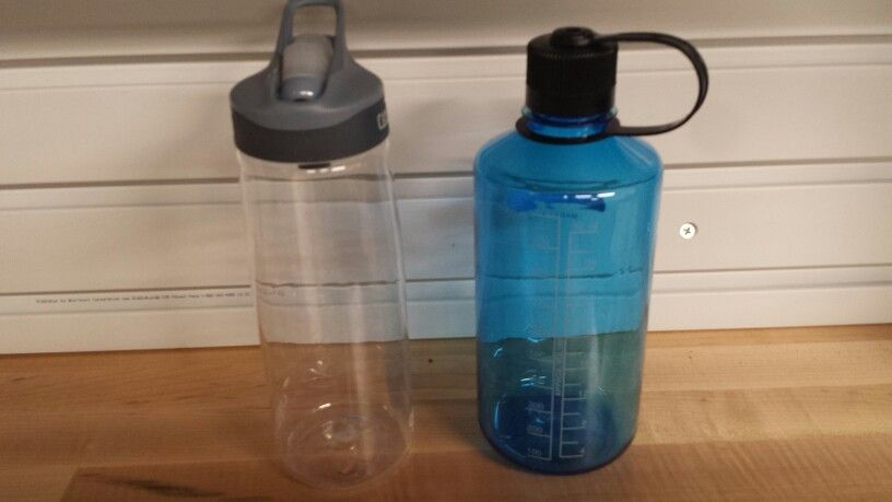 I brought two 1 liter bottles (on right), one 750ml bottle (on left), and a smaller bottle (not shown). I feel I brought 1 too many bottles and may eliminate one of the liter bottles. Not sure. Maybe depending on the trip.