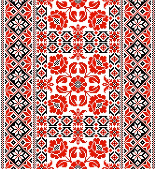 Free eps file ukrainian styles embroidery patterns vector