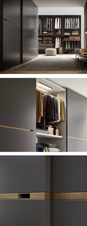 Novamobili Kleiderschrank Middle Schiebetüren мебель Pinterest - kleiderschrank schiebeturen stauraumwunder