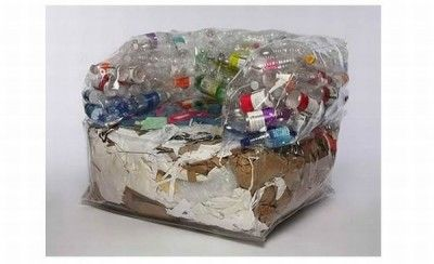 Recycled materials used to make a sofa