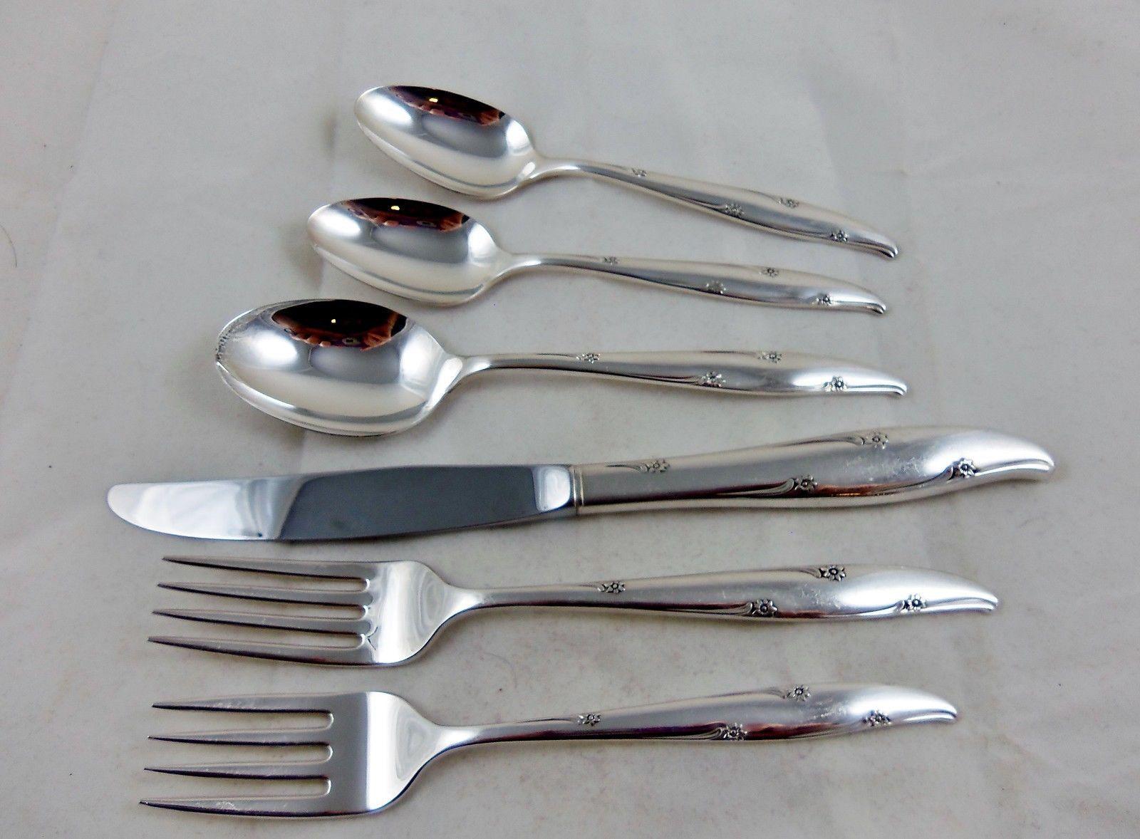 oneida community silverplate silver flowers pattern 49 piece