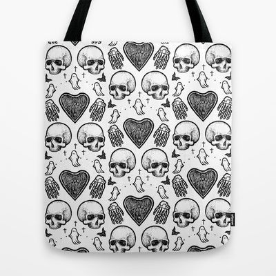 Ghostly Dreams II tote bag: $18 This design is also available as a pillow, print, mug, and much more on my Society 6 webstore, please check it out! #fashion #tote #bag #purse #accessories #pillow #design #interiordesign #decoration #decorating #bedroom #interior #inspiration #home #bed #bedding #duvet #bedspread #skull #skulls #ghost #creepy #edgy #grunge #white #illustration #society6 #print