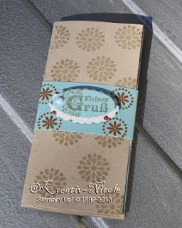 Eine #Umschlag#hülle für #Gutscheine mit #Produkten von #StampinUp!. #KreativNicole