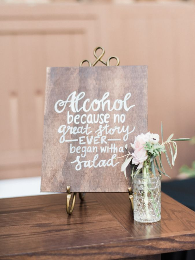 Rustic wooden calligraphy wedding sign…