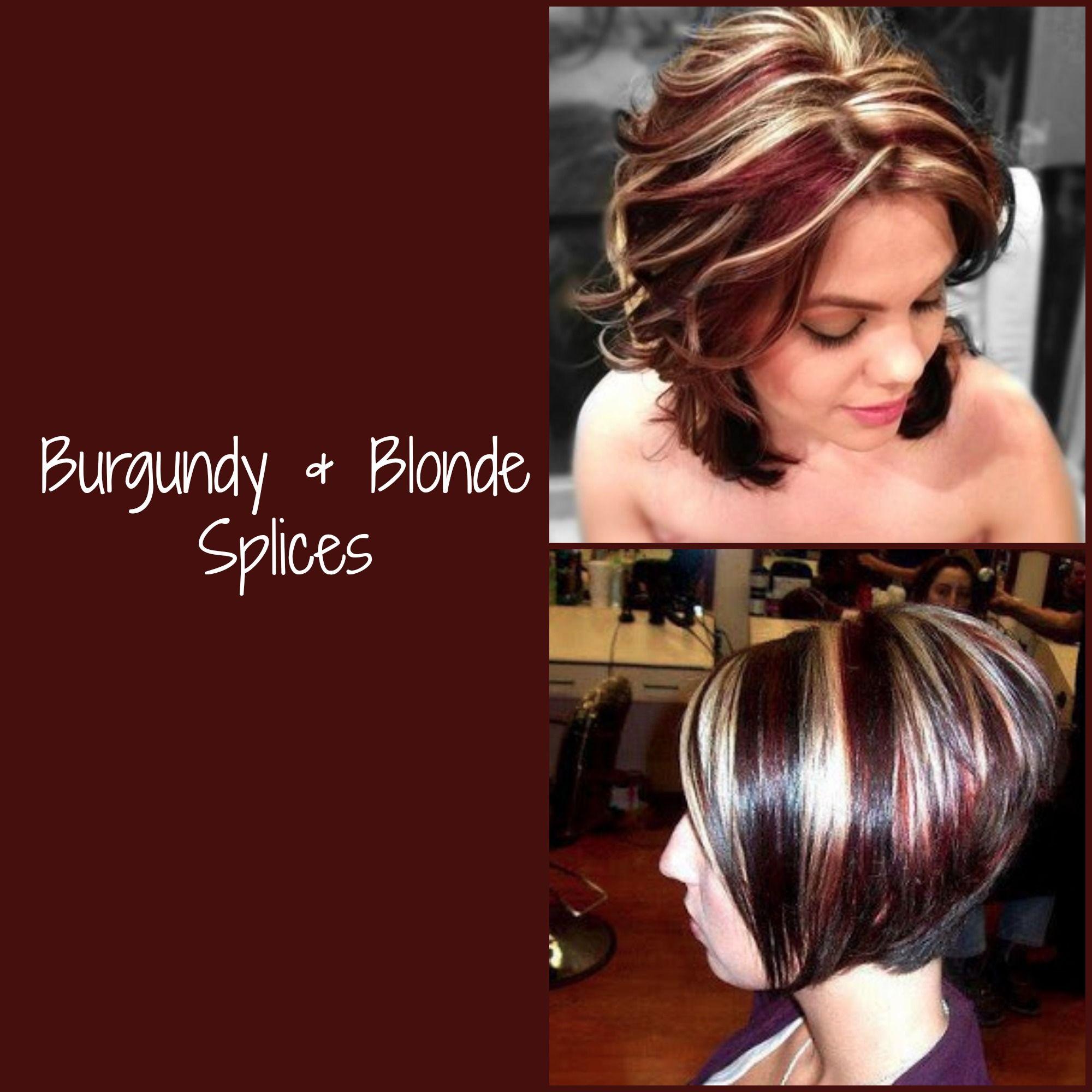 Hair Colour Burgundy Amp Blonde Splices Hair Colour