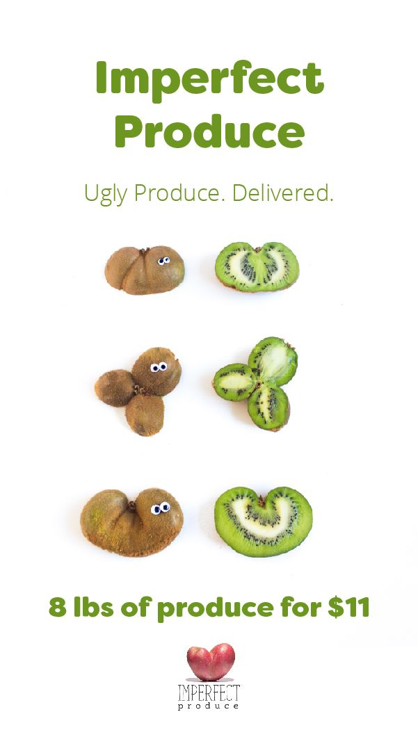 Did you know that 1 in 5 pieces of produce end up being wasted because they're not pretty enough? This perfectly healthy, delicious produce is rejected by grocery stores because of its cosmetic quirks--its too big, too small, or oddly shaped. Enter Imperfect. We buy this produce direct from farms and deliver it to your doors for 30%-50% cheaper than grocery stores. You can save money and eat healthy, while helping farmers, and join us in our mission to reduce food waste!