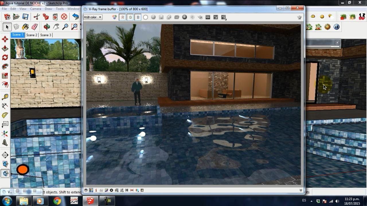 luces bajo el agua sketchup vray | vray | pinterest | luces bajas