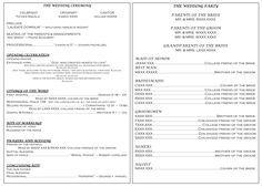 Catholic Full Mass Wedding Program | Catholic wedding, Wedding ...
