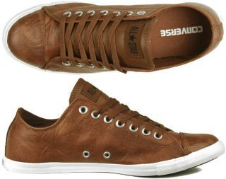 443bcf7a53aa Converse Chucks All Star Slim OX leather brown Gr 40