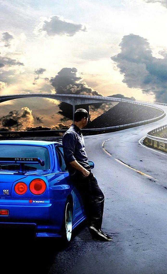 Iphonelockscreen Wallpaper Nissan Skyline R34 Paulwalker 車