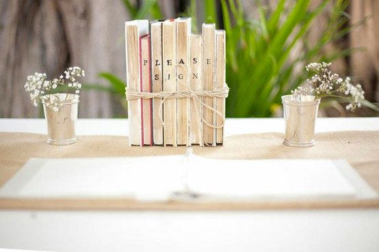 8 Vintage Guest Book Display Prop For Wedding By AirthandOlson