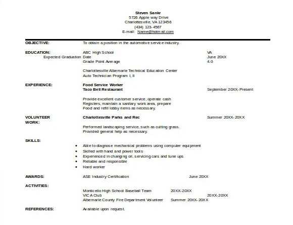 10+ Automobile Fresher Resume Format in 2020 Sales
