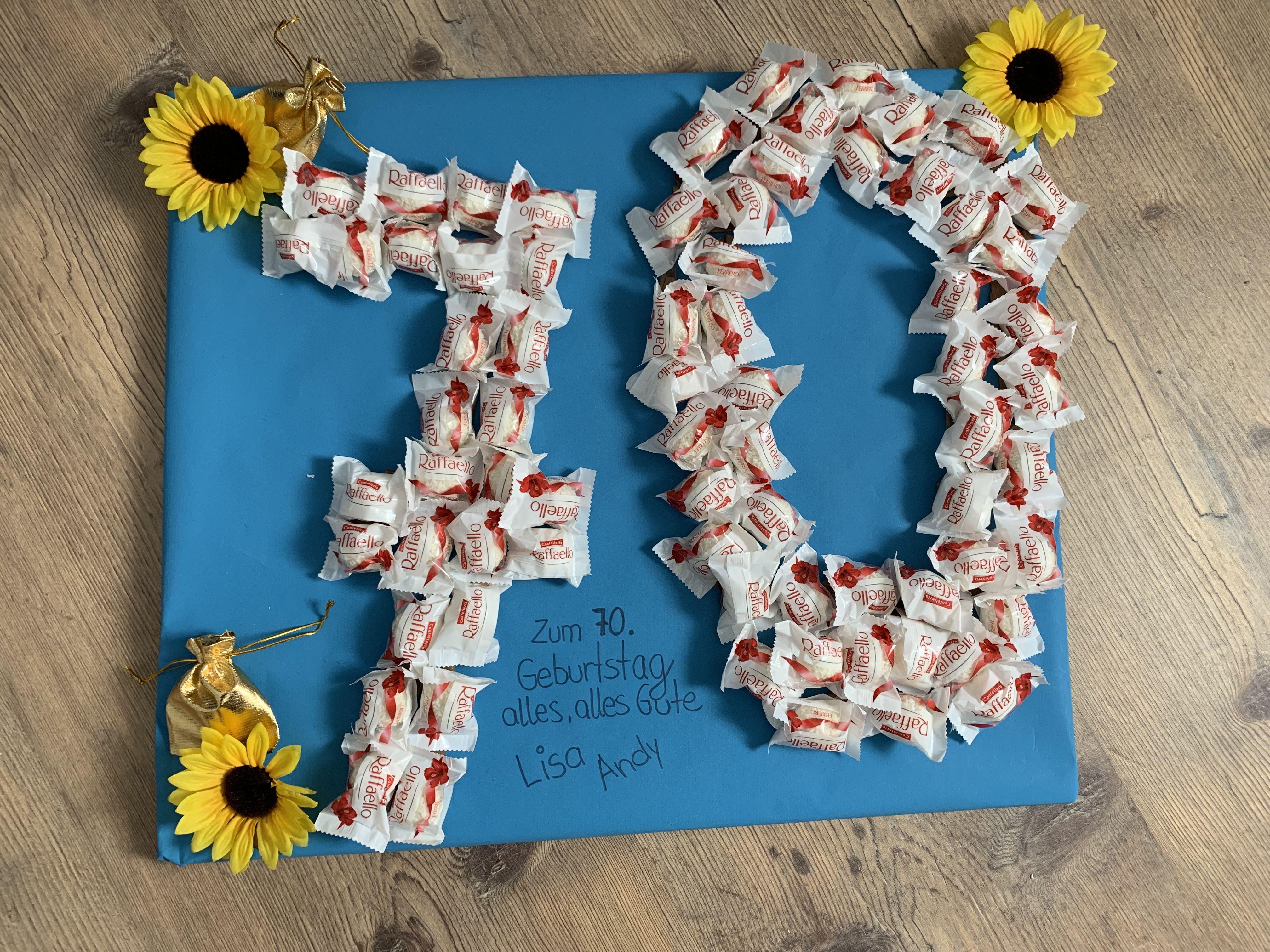 Geburtstagsgeschenk Basteln Sonnenblumen