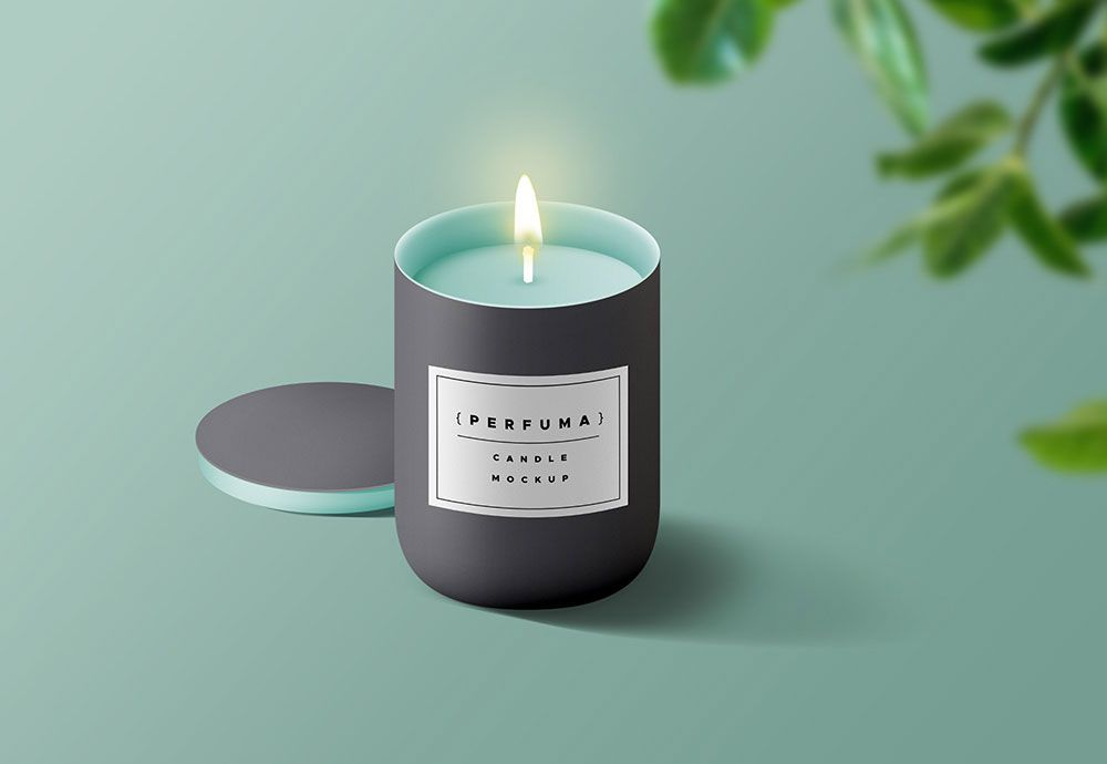 Beautiful Candle Psd Mockup To Showcase Your Product Logo Or Brand Identity You Can Even Change The Color Of Entire Candle Candle Mockup Candles Free Candles