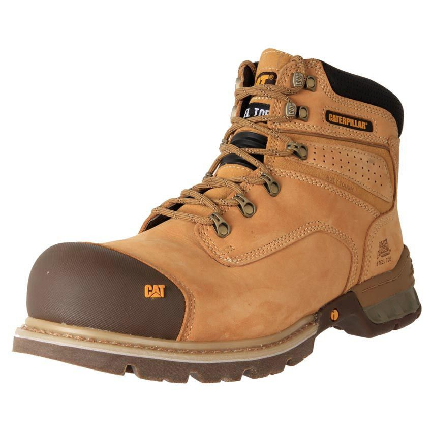 5331d5ca84132 Buy Men's TAN Caterpillar Brakeman Steel Toe zip up safety work Boots online .